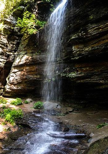 Moore Cove Falls Waterfalls in North Carolina