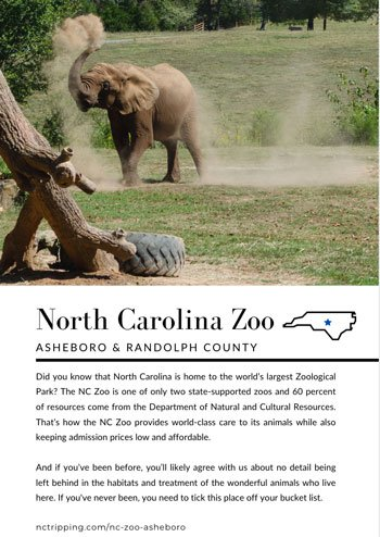 NC Bucket List Book Central Sample Page