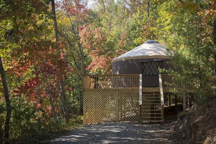 Namaste Yurt near Asheville Image Credit VRBO