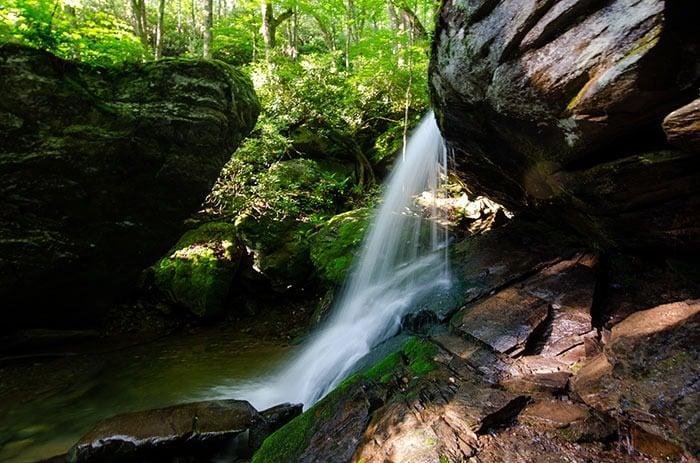 Otter Falls Waterfalls in North Carolina