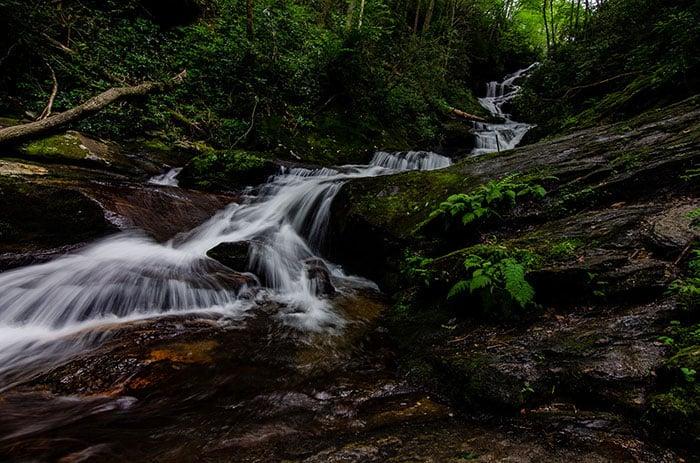 Roaring Fork Falls near Boone Blowing Rock Banner Elk NC