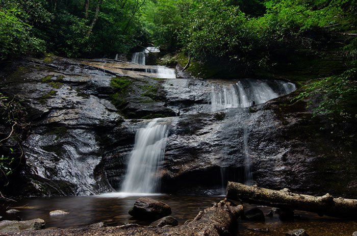 Setrock Creek Falls near Roaring Fork Falls NC