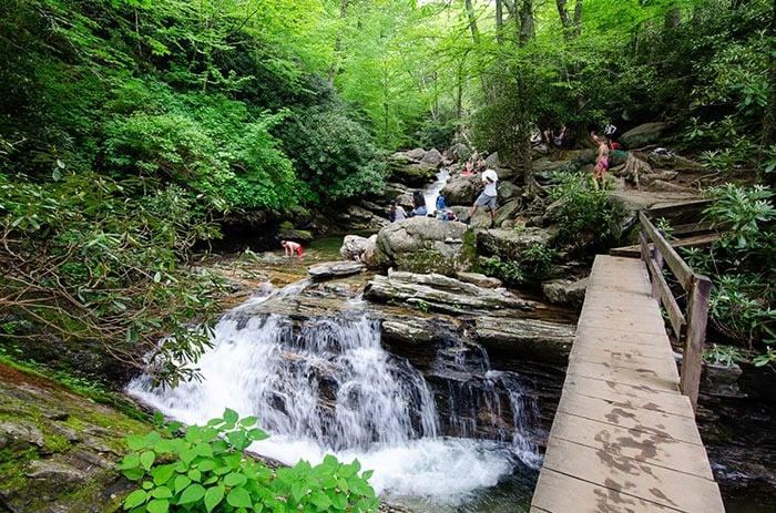Skinny Dip Falls near Black Balsam Knob NC