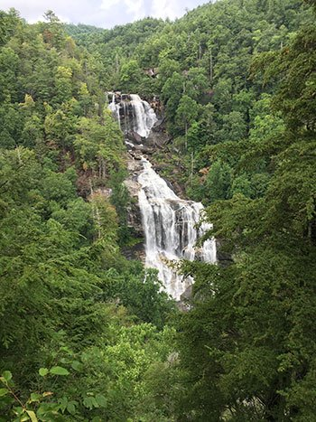 Whitewater Falls Waterfalls in North Carolina