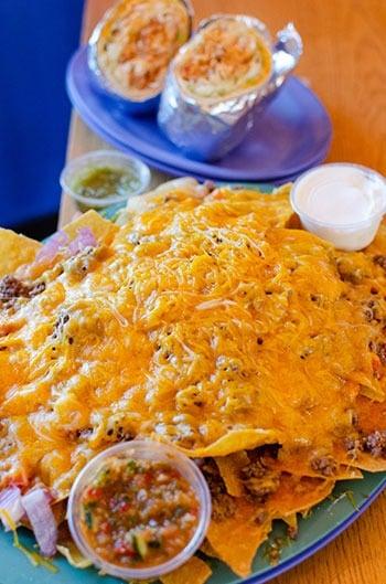 Flaming Amys nachos Wilmington Restaurants