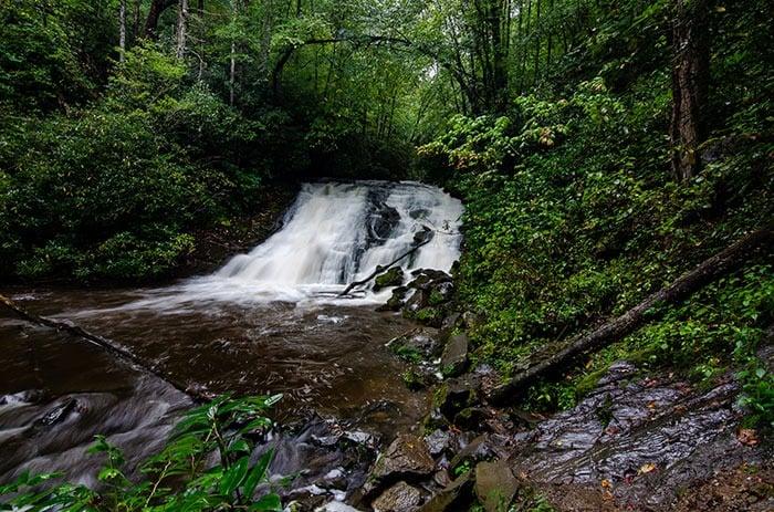 Indian Creek Falls Deep Creek Trail NC