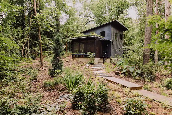 Modern Tiny House in the Trees Durham Airbnb