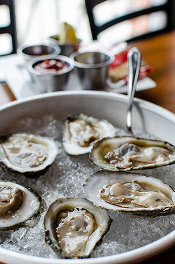 Oysters at Main and Mill Restaurants in Greenville NC
