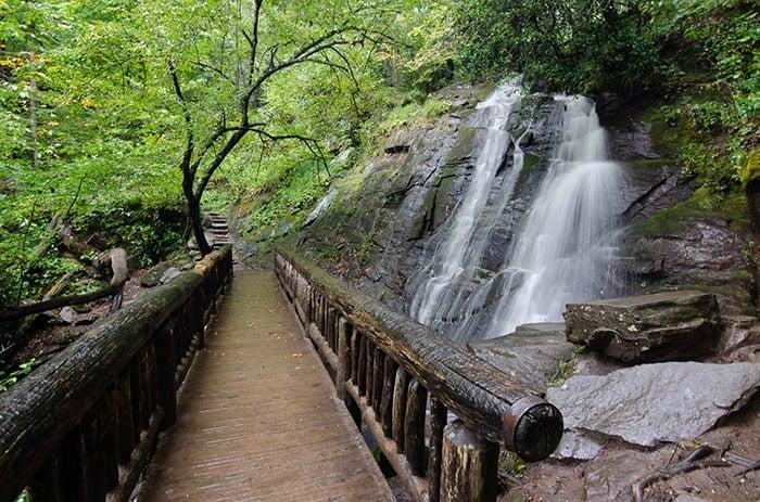 Waterfalls near Asheville Juney Whank Falls Deep Creek Trail