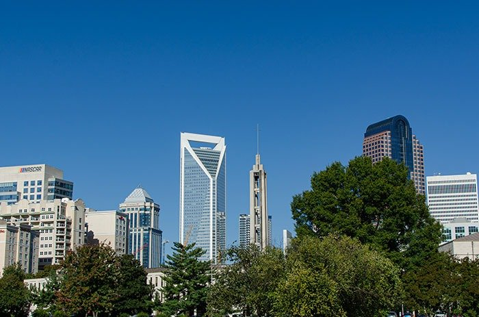 Central North Carolina Charlotte Skyline