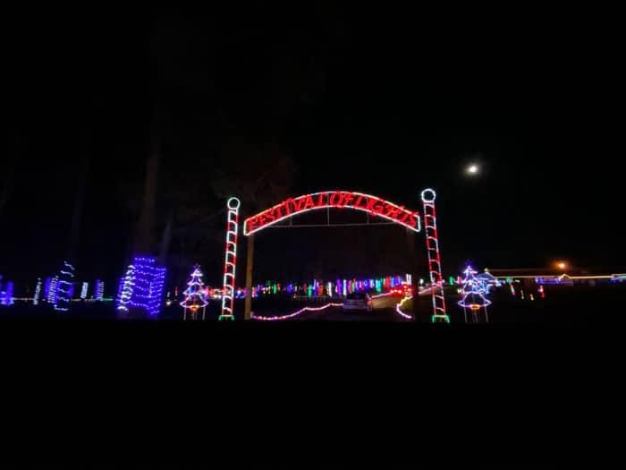 Christmas Lights in North Carolina Festival of Lights Hill Ridge Farm Youngsville NC