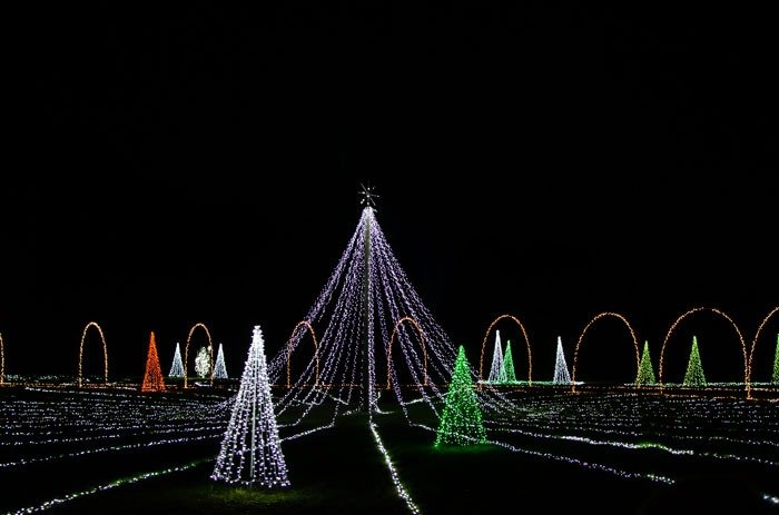 Christmas Lights in North Carolina Mikes Farm Beulaville NC