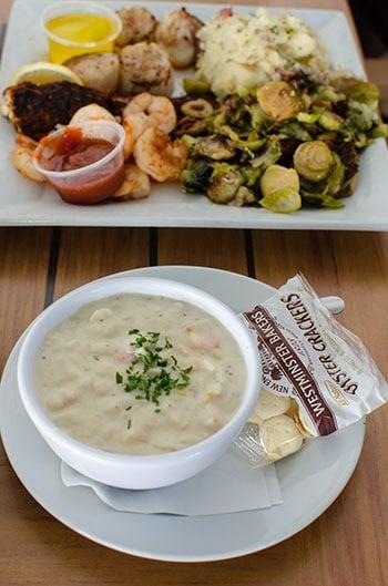 Michaels seafood chowder Wilmington restaurants