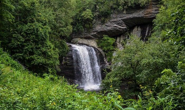 Romantic Getaways in North Carolina Looking Glass Falls near Brevard