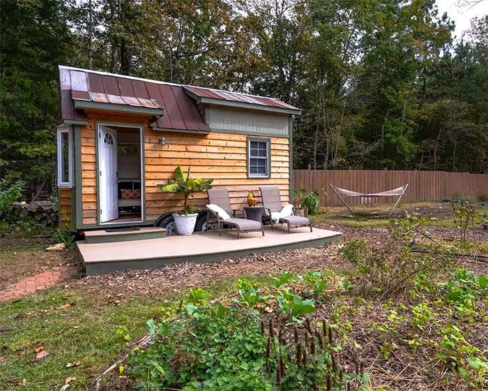 Tiny Houses in North Carolina Charming Tiny House at Wildwoods Community Farm
