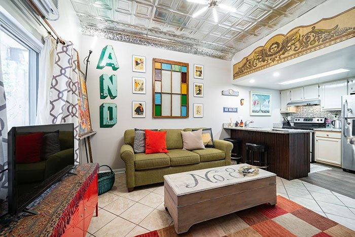 Airbnbs in Wilmington Artsy Studio Photo Courtesy of Airbnb