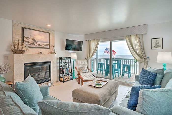 Airbnbs in Wilmington Ocean Dunes Kure Beach Condo Photo Courtesy of Airbnb