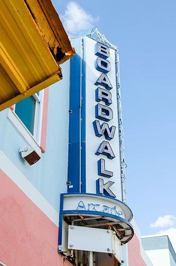 Carolina Beach Boardwalk Arcade sign Wilmington Beaches