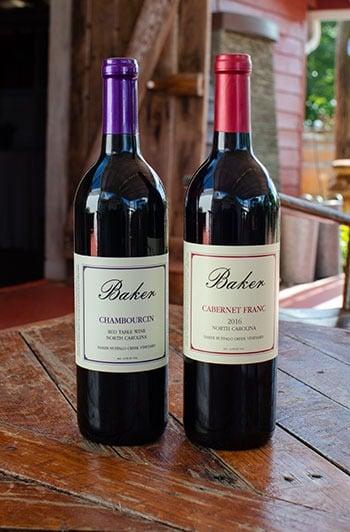 Wine at Baker Buffalo NC Wineries