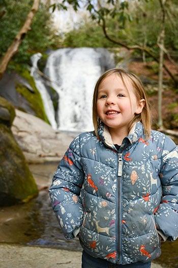 Charlotte at Widows Creek Falls