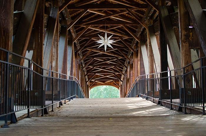 Museums in Winston Salem NC Old Salem Bridge